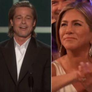 (VIDEO) Pljunuo po drugom braku: Bred Pit ismevao Anđelinu Džoli, Dženifer Aniston se smejala i aplaudirala bivšem!
