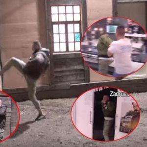 (ŠOK VIDEO) RAZVALIO VRATA ZADRUGE! Filmsko bekstvo usred noći: FILIP CAR IZLOMIO SVE PRED SOBOM!