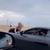 Лоши момци прават хаос: Девојка вреска додека другар ја вози со полн гас на хауба! (ВИДЕО)