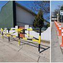 Поставени заштитни столпчиња и огради за поголема безбедност на пешаците во Лисиче
