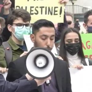 Марш на солидарност со Палестинците во главниот град на Косово
