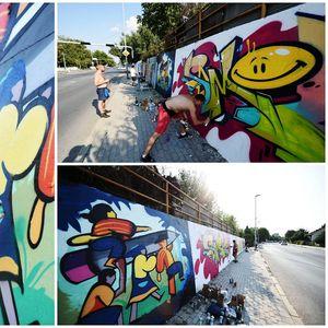 Цртање графити на легални ѕидови наместо на фасади низ Скопје