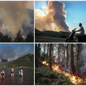 ВИДЕО | Огнена стихија пустоши на Балканот: Беснеат пожари во Грција, Турција, Хрватска и Македонија