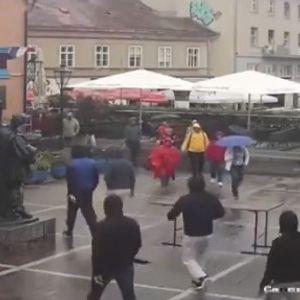 """Хаос во центарот на Загреб, """"Бед блу бојс"""" нападнаа навивачи на Вест Хем во кафе-бар"""