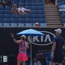 Jamie Murray triumphs in Australian Open mixed doubles first round match featuring ten-minute delay over disputed umpire's call