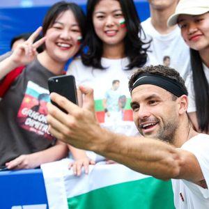 Григор Димитров се радва на любовта на феновете в Китай (снимки)