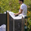 Григор Димитров тренира с Роджър Федерер на Уимбълдън (снимки)
