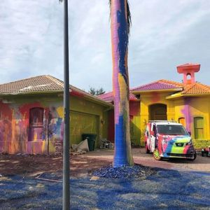 Drug smuggler's' psychedelic home paint job sparks fury in rich neighborhood