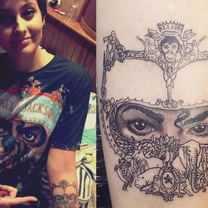 See wild child Paris Jackson's 50 tattoos including skulls, swords, snakes and her late dad Michael's face!