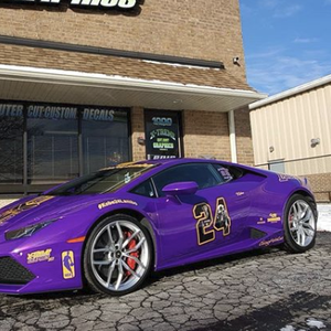 Kobe Bryant tribute Lamborghini with sweet artwork of NBA star and daughter Gianna can be yours for $170,000