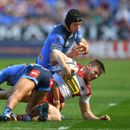 Wigan's Tom Davies rushed to hospital with horror injury as foot dangles from socket