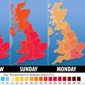 UK weather forecast – 23C sun in the South tomorrow before heavy rain sweeps in on Bank Holiday Monday