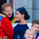 Is this moment Meghan Markle gets 'told off' by Prince Harry? Royal fans claim to spot awkward 'row' at Trooping the Colour