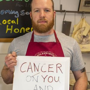 Animal rights extremists leave signs outside butcher's shop wishing 'cancer on your family'