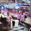 Moment first-time flyer climbs on luggage conveyor at airport check-in thinking it would take her to plane in Turkey