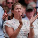 Mirka cheers on Federer at Wimbledon final… but fans wonder where Djokivic's wife Jelena is