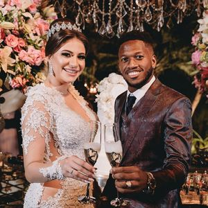 Man Utd midfielder Fred gets married in Brazil… before jetting late to Australia for pre-season tour
