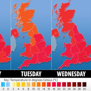 UK weather forecast – Britain to be lashed by torrential rain before 30C Bank Holiday scorcher and three-week heatewave