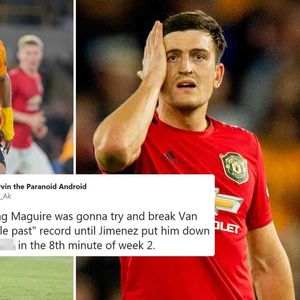 Harry Maguire was dribbled past after two games and fans go crazy comparing Man Utd star to Virgil van Dijk