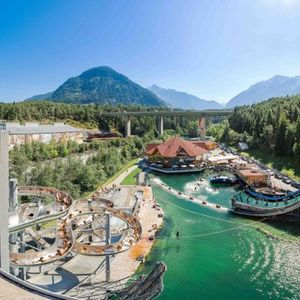 Area 47 is the perfect adventure water park for grown ups with massive slides, diving platforms and even a beach bar