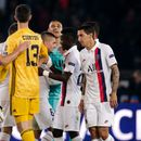 Keylor Navas gives cheeky wink to old Madrid rival Courtois after ex-Chelsea keeper's blunder helps PSG to 3-0 win