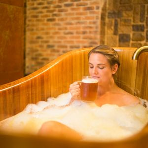 Soak in a therapeutic lager bath at the Purkmistr Beer Spa in the Czech Republic