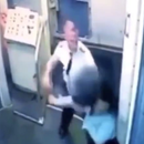 Shocking moment male airline pilot punches female co-worker ex outside passenger plane