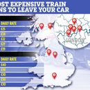 The most expensive train station car parks where drivers are stung up to £40 a day