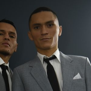 Boxing brothers Freddie and Francisco Fonseca dress as Kray twins as they aim to rule East London at York Hall event