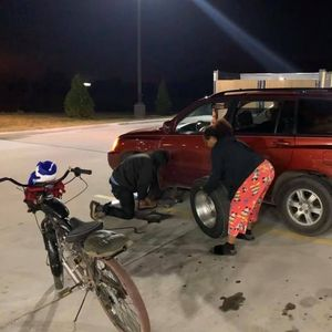 Homeless man uses last $5 to fill up a stranger's car tyre with air – inspiring an onlooker to raise $2 K to repay him