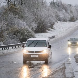 UK weather forecast – Snow hits England as icy roads spark travel chaos and a month's worth of rain to fall TODAY