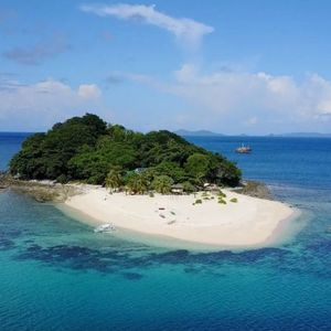You can hire this dreamy private island for just £68 per person a night and the views are incredible