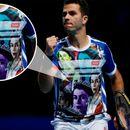 Tennis star dons incredibly outlandish t-shirt with pictures of QUEEN across it to win over British crowd at ATP Finals