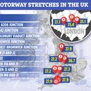 The top 10 slowest motorways in the UK where drivers are forced to go an average of 25mph