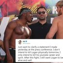 KSI claims he doesn't actually want to kill Logan Paul after being slammed for sick press conference comments