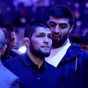 UFC star Khabib Nurmagomedov joined by Saul 'Canelo' Alvarez and pop star Usher ringside for Joshua vs Ruiz rematch