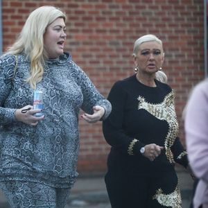Gemma Collins goes make-up free in an animal print tracksuit as she loads up trolley at M&S after spending day with Arg