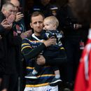 Rob Burrow close to tears with young family on pitch for emotional fundraiser game after motor neurone disease diagnosis