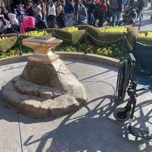 Disney guest manages to pull Excalibur sword out of the stone – so will he be the new King?