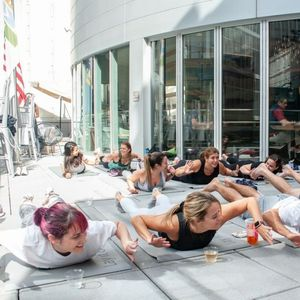 New 'drunk yoga' retreat lets guests play drinking games while doing downward dog