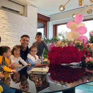 Cristiano Ronaldo treats girlfriend Georgina with flowers and cake as he wishes her happy birthday in gushing message