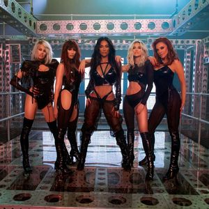 Pussycat Dolls show off incredible figures in sexy PVC outfits to promote comeback song