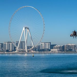 Real-life 'Iron Man' soars over Dubai in wing-suit that can travel 150mph