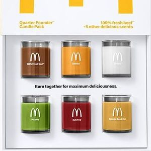 McDonald's releases scented candles that smell of Quarter Pounder ingredients including beef, ketchup and pickles