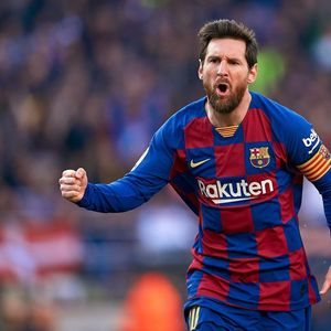 Barcelona 5 Eibar 0: Messi magic ends goal drought amid white handkerchief protests over under-fire president Bartomeu