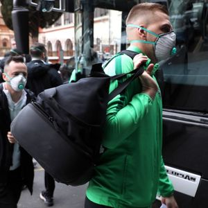 Ludogorets stars wear face masks as they arrive in coronavirus-hit Italy for Inter Milan Europa League clash