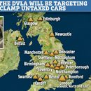 The DVLA is patrolling 20 towns to clamp untaxed cars – is yours on the list?