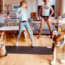 Robbie Williams strips to his famous tiger pants in Tiger King workout video with wife Ayda Field