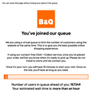 B&Q and Wickes shoppers queue for over an hour to get on websites with 160,000 ahead of them