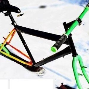 Битолчанец направи велосипед на скии!